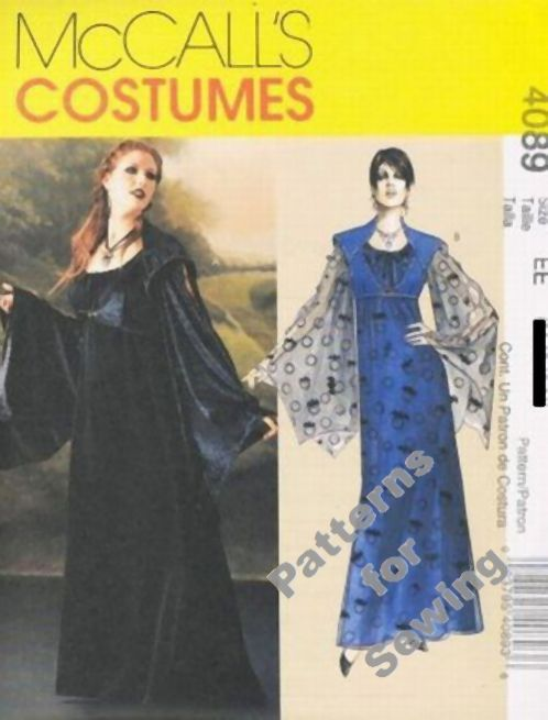 Woman Pattern Halloween Costume Gothic Dress Sz 6 12