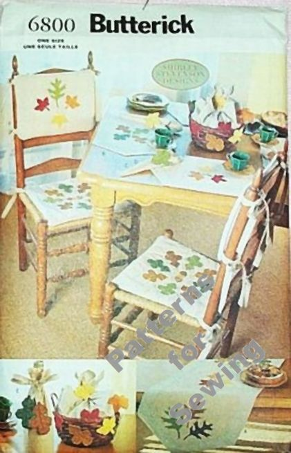 pattern butterick home dec autumn fall decorations table runner place